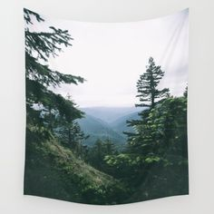 Oregon II Wall Tapestry. #photography #color #oregon #forest #green #mountains #nature #landscape #digital #trees
