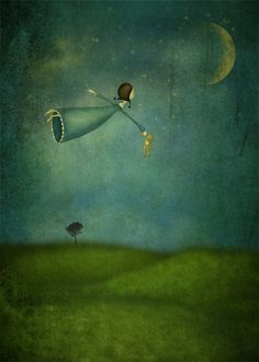 """""""Fly me to the moon"""" Majalis illustration"""