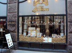 La Glace - opened its doors in 1870. La Glace – If you are in Copenhagen to lose weight, stay away from La Glace. They make and serve the best and biggest layered cakes. Step back in time in the oldest confectioner's shop of Denmark. Skoubogade 3 1158 Copenhagen Denmark
