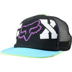 Fox Girls Endless Black Purple   Turquoise Snapback Trucker Hat at Zumiez    PDP Flat Bill deca1e5ae179
