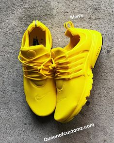 new products 12b69 6c825 Sunshine Yellow Nike Presto Custom (PLEASE READ DESCRIPTION)