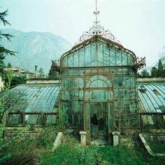 Abandon the Victorian style green house Villa Maria northern Italy