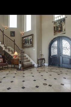 House ideas- the front door Happy House, My House, Full House, Foyer Design, House Inside, My Dream Home, Dream Homes, Main Entrance, Entry Doors