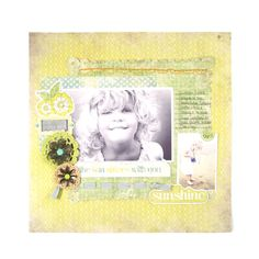 This scrapbook layout makes me remember how much I LOVE summer. #wermemorykeepers #scrapbooking #summer