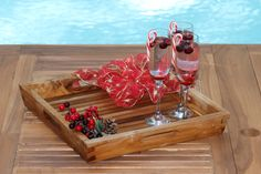 A Christmas Gift To You, FREE $99 Teak Tray with Every Order | Oceanic Teak Furniture Teak Table, Teak Furniture, Liquor Cabinet, Table Settings, Christmas Gifts, Tray, Lounge, Entertaining, Deep