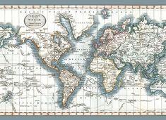 Vloerkleed Chart of the World - 135 x 195 cm