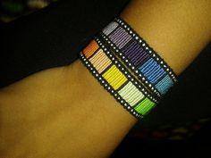 Film Reel Alpha Friendship Bracelet Pattern #14314 - BraceletBook.com