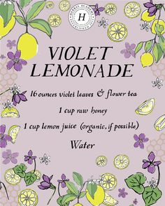 boissons fraches This refreshing violet lemonade recipe can be especially helpful for children, as they might resist a tincture but will happily drink lemonade! Refreshing Drinks, Yummy Drinks, Healthy Drinks, Tea Recipes, Pureed Recipes, Recipies, Ramen Recipes, Pudding Recipes, Fish Recipes