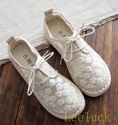Womens Embroidery Espadrilles Lace Up Mesh Casual Loafers Shoes Flats Moccasins
