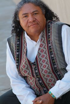 Edgar Heap of Birds. He is Southern Cheyenne and enrolled in the Cheyenne and Arapaho Tribes.