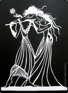 Картина панно рисунок Вырезание The Magic Flute-2_Lois Cordelia Бумага фото 1