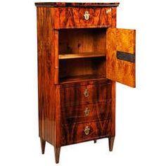 Tall Biedermeier Cabinet