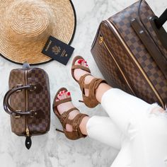Louis Vuitton Luggage Airport Style