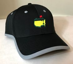 fb80d7e488a XL (adjusts 7-3 8 up to 8) THE MASTERS GOLF HAT black dry-fit Men  structured EUC