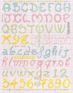 Resultado de imagen de punto croce alfabeto