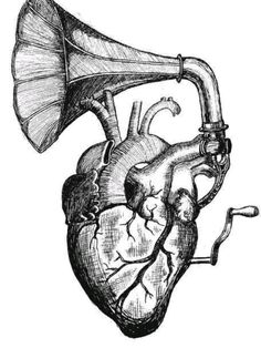 Imagem de heart, music, and art