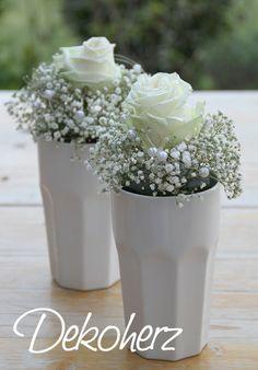 Rosen mit Schleierkraut