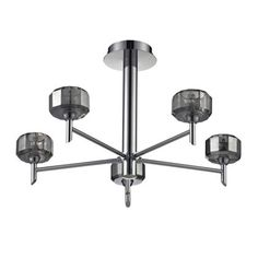 Madaline 5 Arm Ceiling Light Chrome Lighting Ceiling