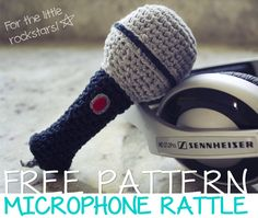 Craftie Marie: free microphone crochet pattern in English and Spanish