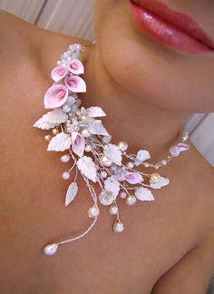 Beautiful flowers jewellery by Angela Chenina | Beads Magic