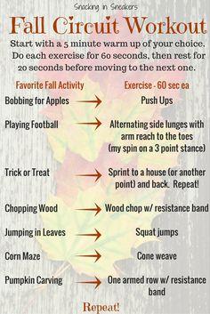 Fall Circuit Workout