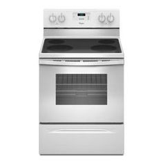 Whirlpool Smooth Surface Freestanding 4.8-cu ft Electric Range (White) (Common: 30-in; Actual: 29.87-in)
