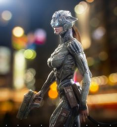 Catwoman suite final low by angelitoon on deviantart cyberpu Cyberpunk Girl, Arte Cyberpunk, Cyberpunk Character, Cyberpunk Fashion, Female Cyborg, Female Armor, Chica Fantasy, Fantasy Girl, Badass Anime
