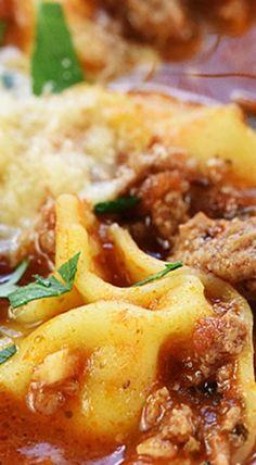 20-Minute Lasagna Tortellini Soup