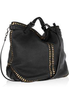 Bottega Veneta Metallic-trimmed textured-leather tote NET-A-PORTER.COM