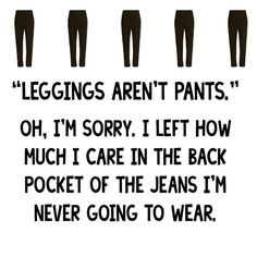 I used to wear jeans all the time.