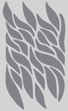 Wallflower design on 5x9-inch Stencil Sheet by PearlDesignStudio