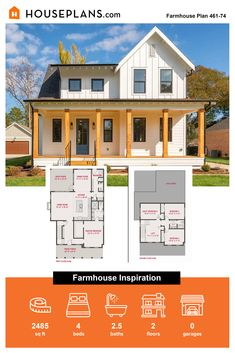 Love rustic farmhouse plans? Then check out this modern farmhouse idea. If gives you a stylish farmhouse kitchen. Questions? Call 1-800-913-2350 today. #blog #architecture #modern #bungalow #architect #architecture #buildingdesign #country #craftsman #houseplan #homeplan #house #home #homeblog Modern Farmhouse Plans, Farmhouse Design, Rustic Farmhouse, Farmhouse Style, Modern Bungalow, Luxury House Plans, Small House Plans, Building Design, My Dream Home