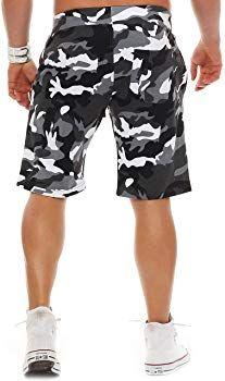 c05e276bfd Finchman 85T5 Herren Cotton Sweat Short Kurze Hose Bermuda Camo Grau S:  Amazon.de