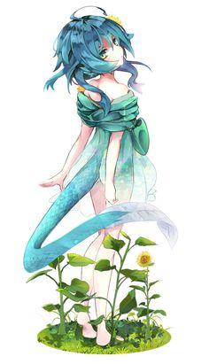 Blue Dragon and Higu Art - The Universe of Manga Dragon Girl, Blue Dragon, Character Design Animation, Character Art, Neko, Manga Anime, Blue Anime, Anime Monsters, Cute Dragons