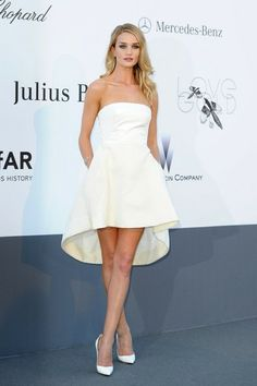 Rosie Huntington-Whiteley - Celebs Attend the amFAR Event in Cannes