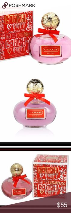 NIB Large Coach Poppy Eau de Parfum Spray Brand New Sealed Box  Guaranteed Authentic  Large 3.4 FL OZ  Coach Poppy  MSRP $88.00  For the young at heart, this Coach perfume celebrates the youthful spirit from within.   Chic. Vibrant. Whimsical.   Coach Poppy Flower: inspired by the playful spirit of the Poppy girl, this fragrance brings your youthful fresh vibe to life.   It's flirty, fashionable and fun! Coach Makeup