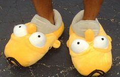 Stay Warm With The Homer Simpson Slippers