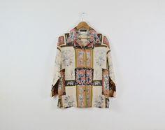 Vintage Silk Blouse      Ladies' Silk Blouse    100% Silk Blouse by ElsieMoonVintage on Etsy