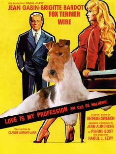 Fox Terrier Wire Vintage Poster Canvas Print Love by NobilityDogs