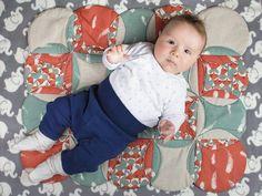 DIY-Anleitung: Kirchenfenster Patchwork Babyquilt nähen via DaWanda.com