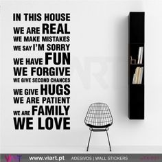 IN THIS HOUSE - Wall stickers - Vinyl decoration - Viart