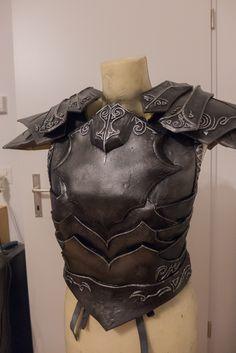 Ebony Armor - WIP 3 by Folkenstal on deviantART