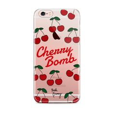 iPhone case Etui Cherry BOMB ❤ liked on Polyvore featuring accessories, tech accessories, iphone sleeve case and iphone cover case