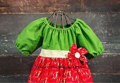 Christmas holiday dress reindeer. Gold by SweetpeadesignsbyDee, $29.00