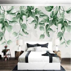 3D Nordic Tropical Plants Wallpaper - 96W x 60H inches / Non-woven Paper