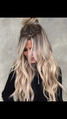 Ice Blonde Hair, Blonde Hair Looks, Balayage Hair Blonde, Love Hair, Great Hair, Gorgeous Hair, Long Length Hair, Plaits Hairstyles, Long Layered Hair