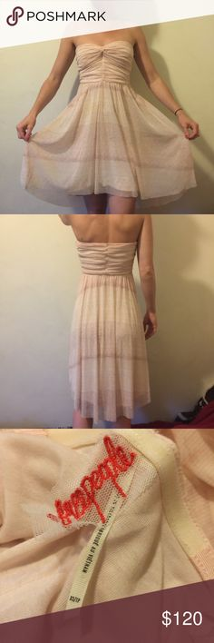 FREE PEOPLE Desert Ruched Tube Top Dress FREE PEOPLE Desert Theme Ruched Tube Top has a tiny small stain or mark on the front that blends in. Visible in photos Free People Dresses Midi