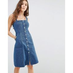 41db02dc0838 Image 1 of Honey Punch Denim Pinafore Dress