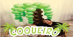 Como fazer Coqueiro de Balões