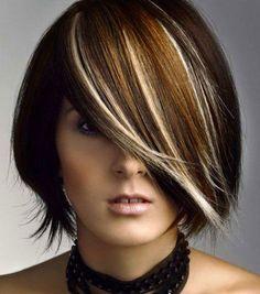 Kombiniere deine Haare mal mit dunklen oder hellen Akzenten! - Neue Frisur